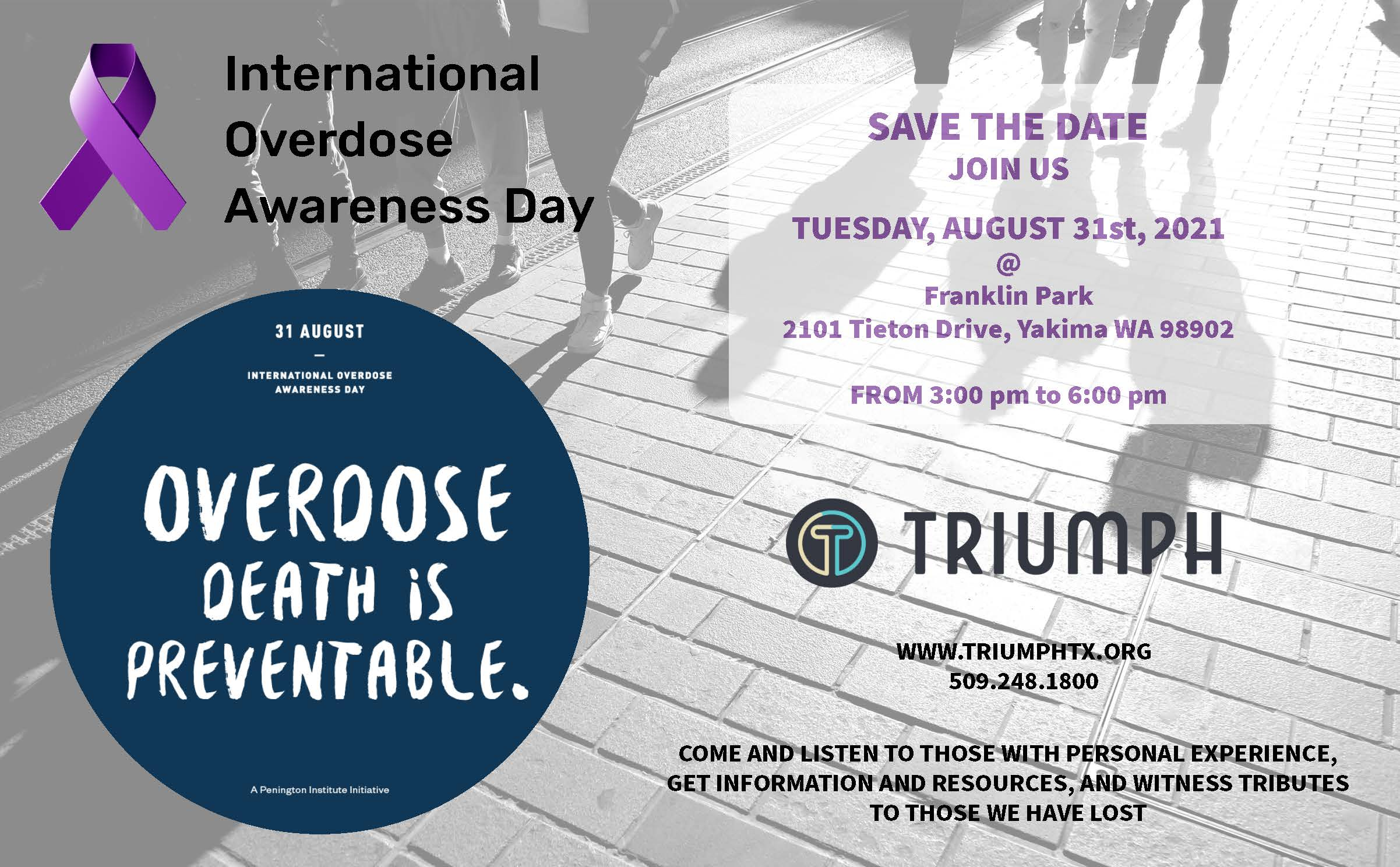 Join These Events to Support International Overdose Awareness Day August 31st
